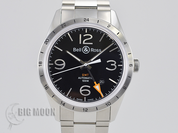 Bell&Ross ベル&ロス ヴィンテージ BR 123 GMT 24H VINTAGE BR123-BL-GMT/SST