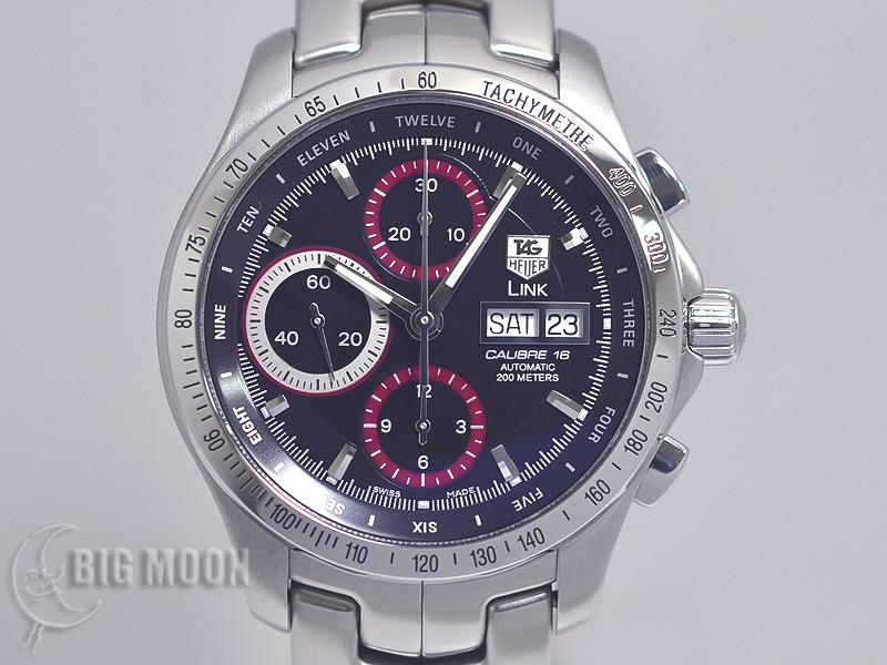 meet 8566e 535be TAG HEUER タグホイヤー リンク・クロノグラフ CJF211C.BA0594 ...