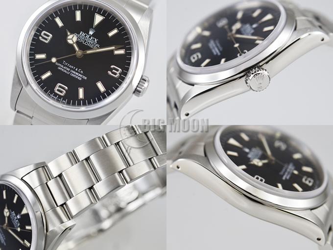 save off d924c 31c11 ロレックス エクスプローラーI TIFFANYダブルネーム 型式:14270 ...